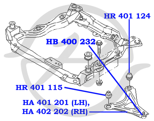No HANSE: HA 401 201 Рычаг