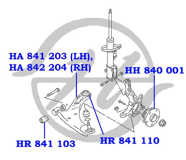No HANSE: HA 841 203 Рычаг