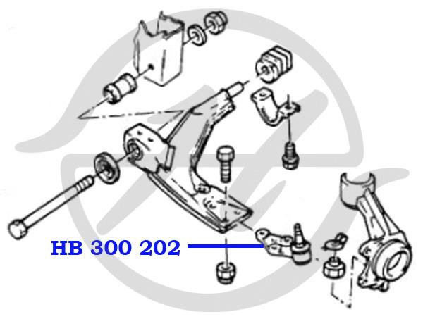 No HANSE: HB 300 202 Опора