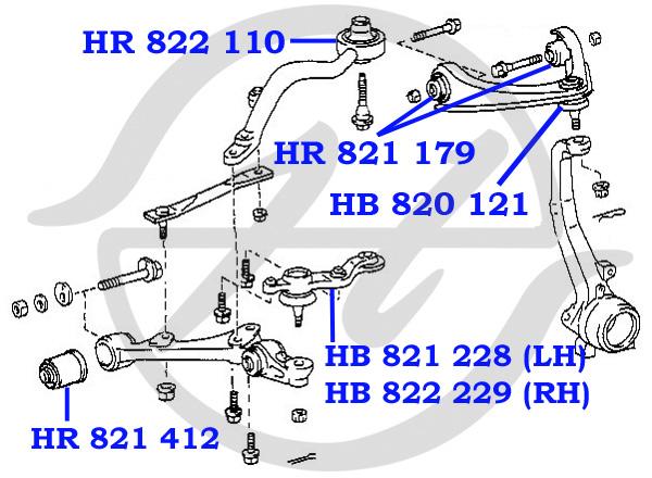 схема подвески тойота королла 120