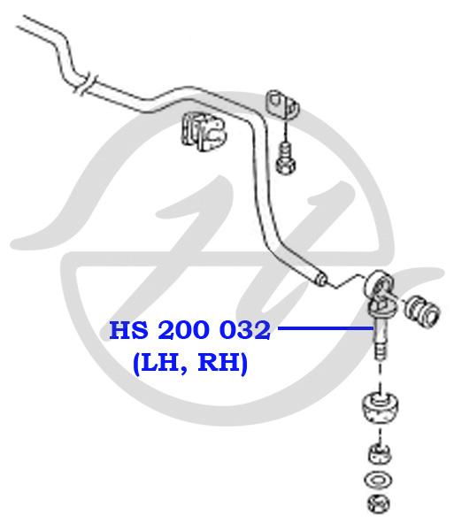 No HANSE: HS 200 032.  Тяга стабилизатора передней подвески, d=18mm